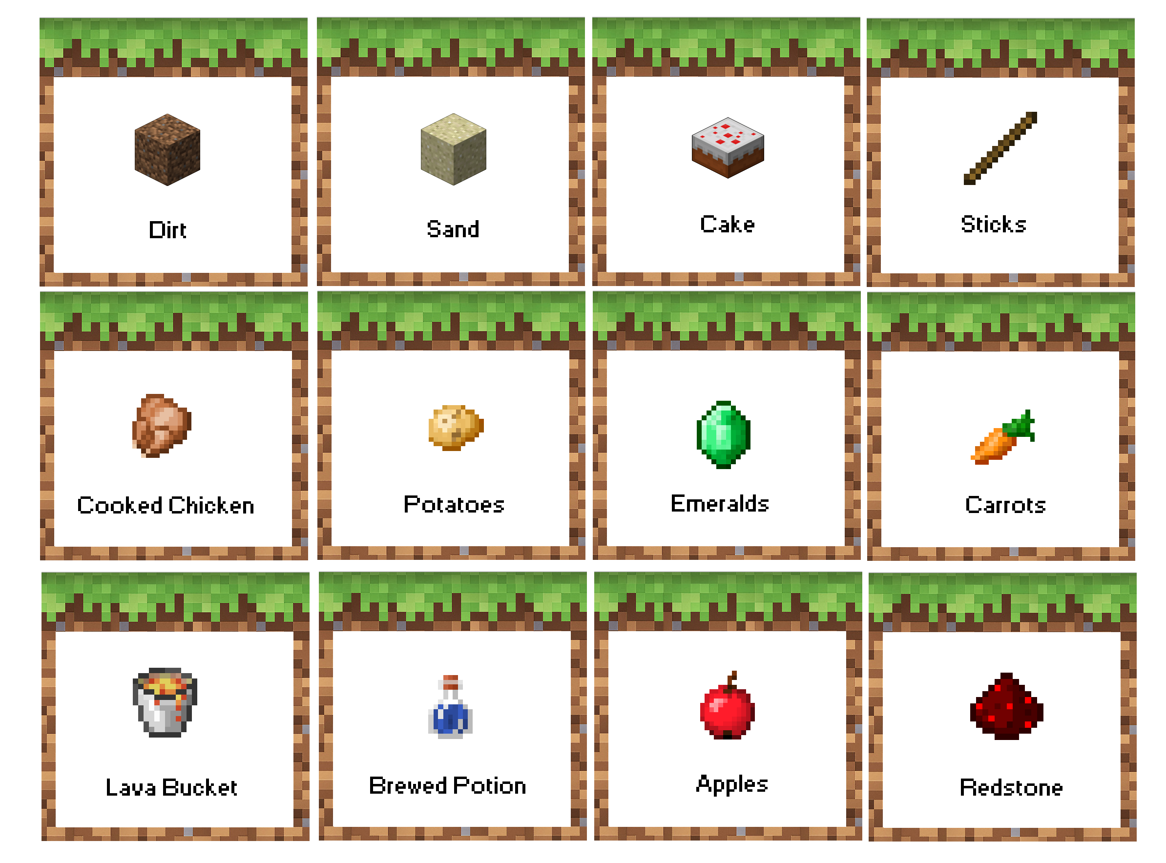 Minecraft Birthday Party Food Labels. Free Printable! Now.