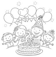 Birthday Outline Cliparts Free Download Clip Art.