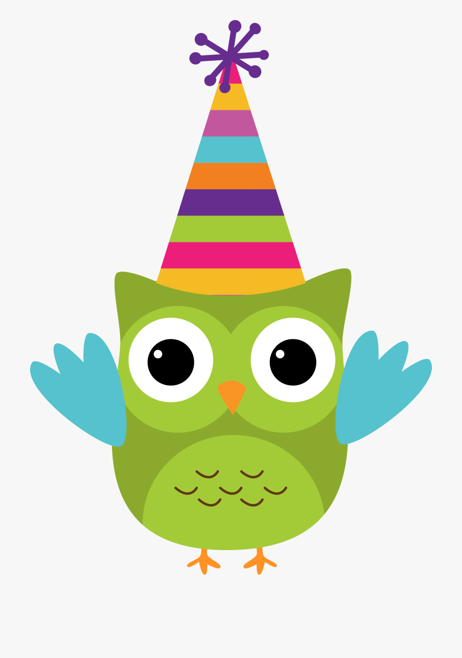 Owl Birthday Clipart.