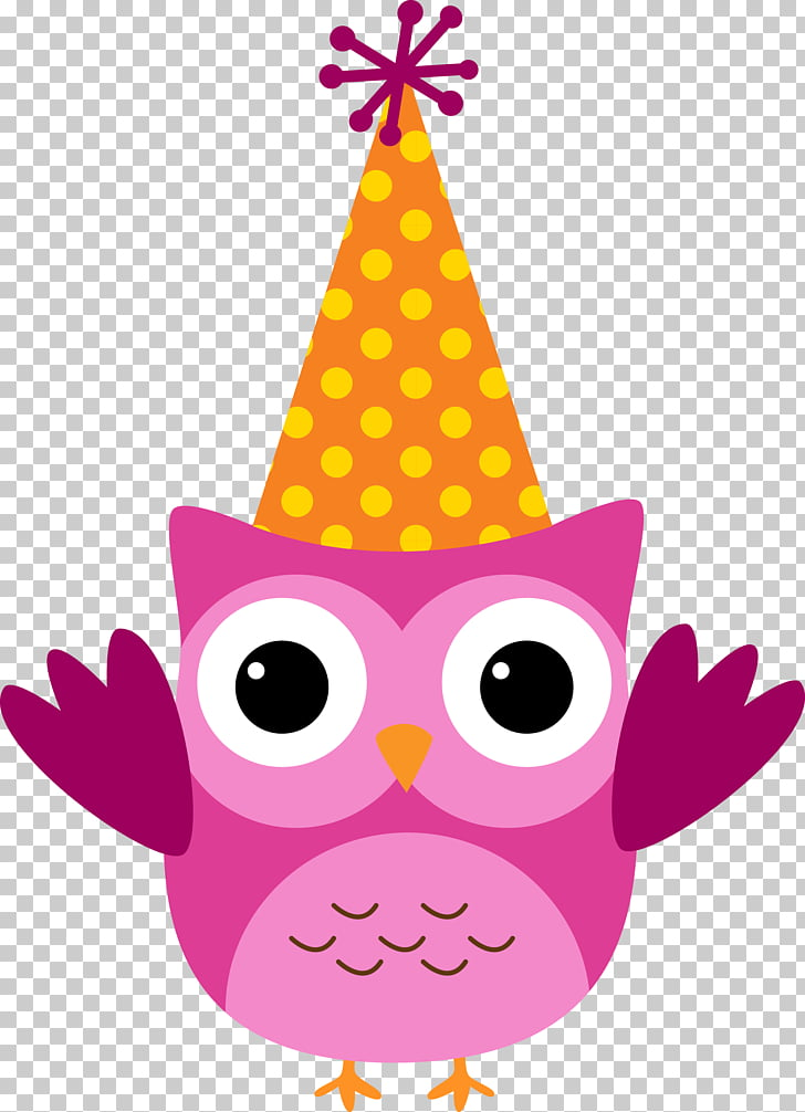 Birthday cake Owl , owls PNG clipart.