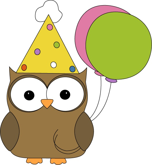 Free Birthday Owl Clipart.