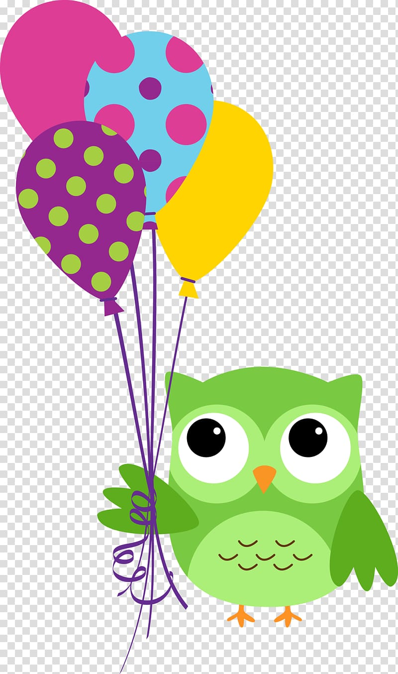 Owl Happy Birthday to You Wish , holi transparent background.