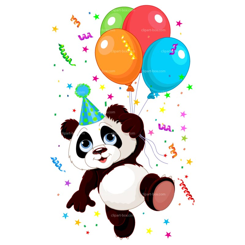 CLIPART PARTY PANDA.