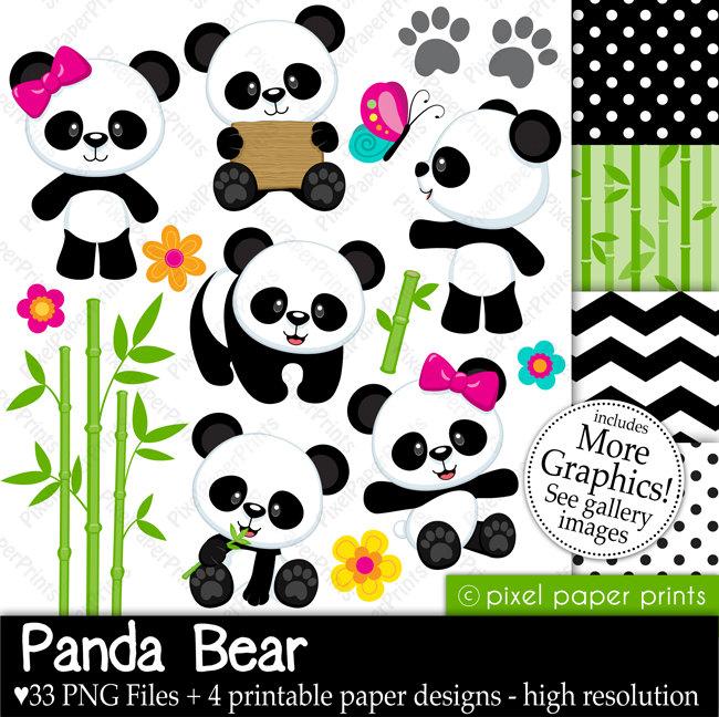 Cute panda clip art.