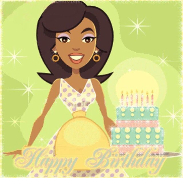 African American Birthday Clipart.