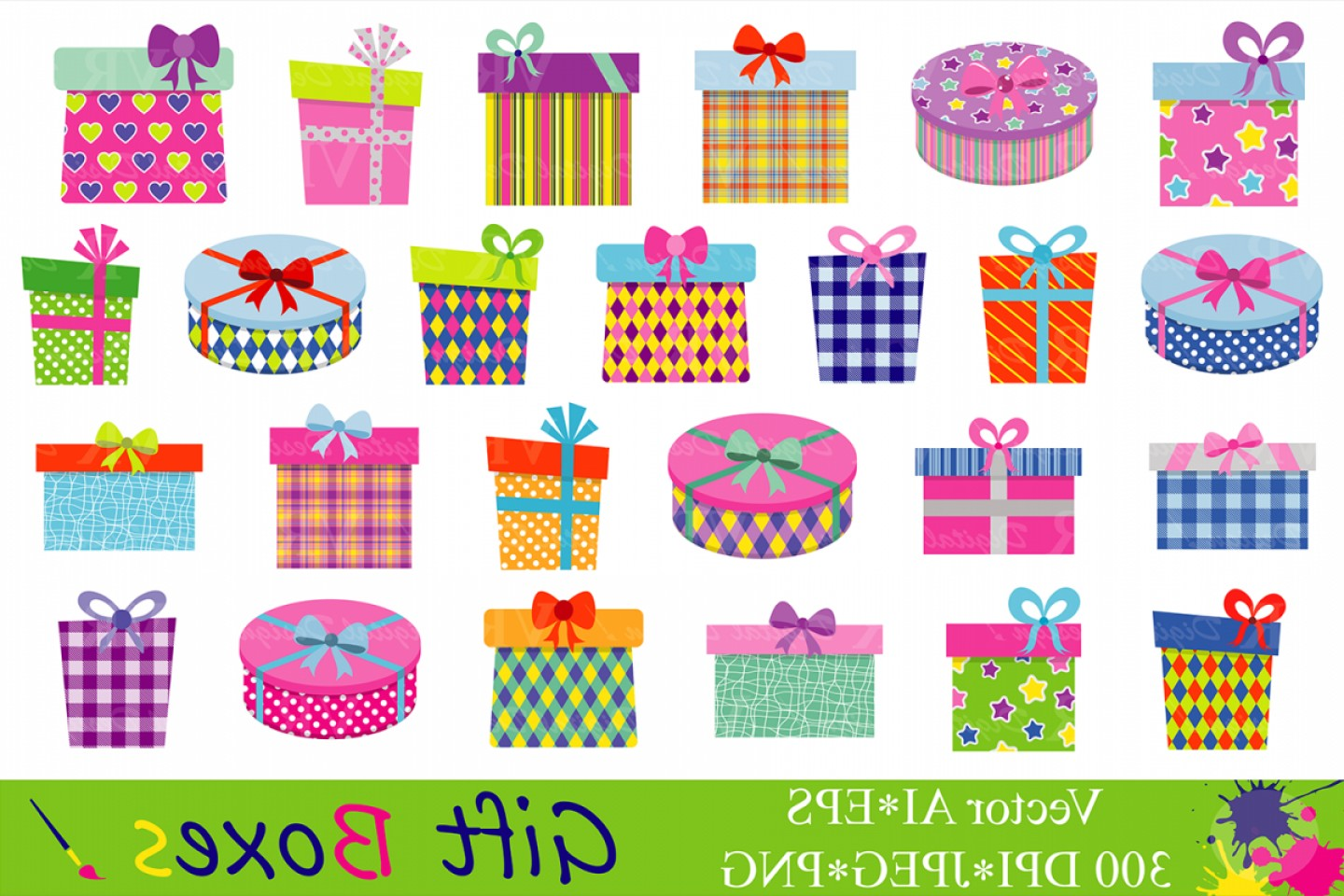 Gift Boxes Clipart Birthday Party Presents Clip Art Gifts.