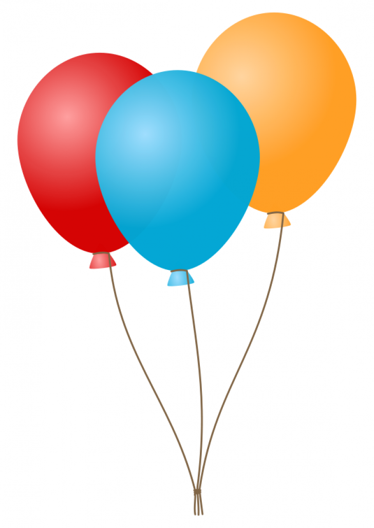 birthday party balloons clipart.