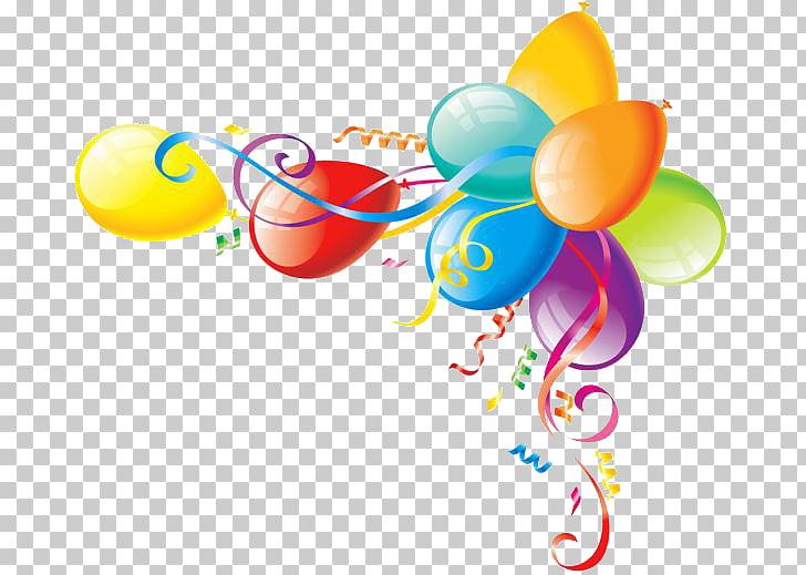 Birthday Party Balloon Ribbon , Birthday, assorted.