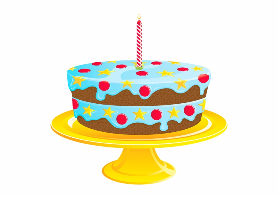 Blue Birthday Cake Png.