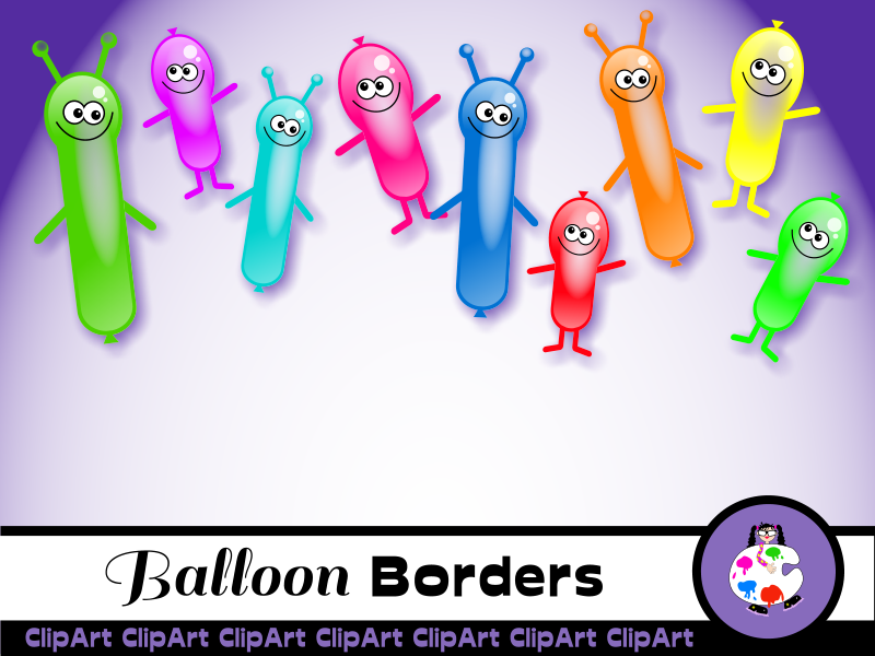 Birthday Party Balloon Borders.
