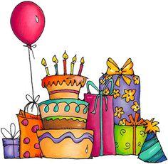 Happy birthday party clipart.