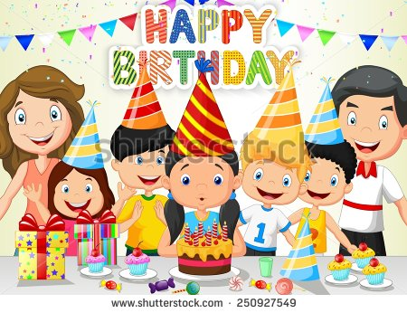 Birthday party pictures clip art.