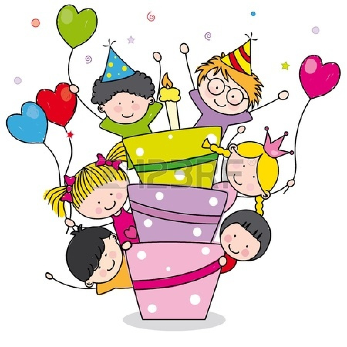 Kids Birthday Party Clip Art.