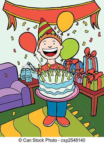 Clipart of birthday party.
