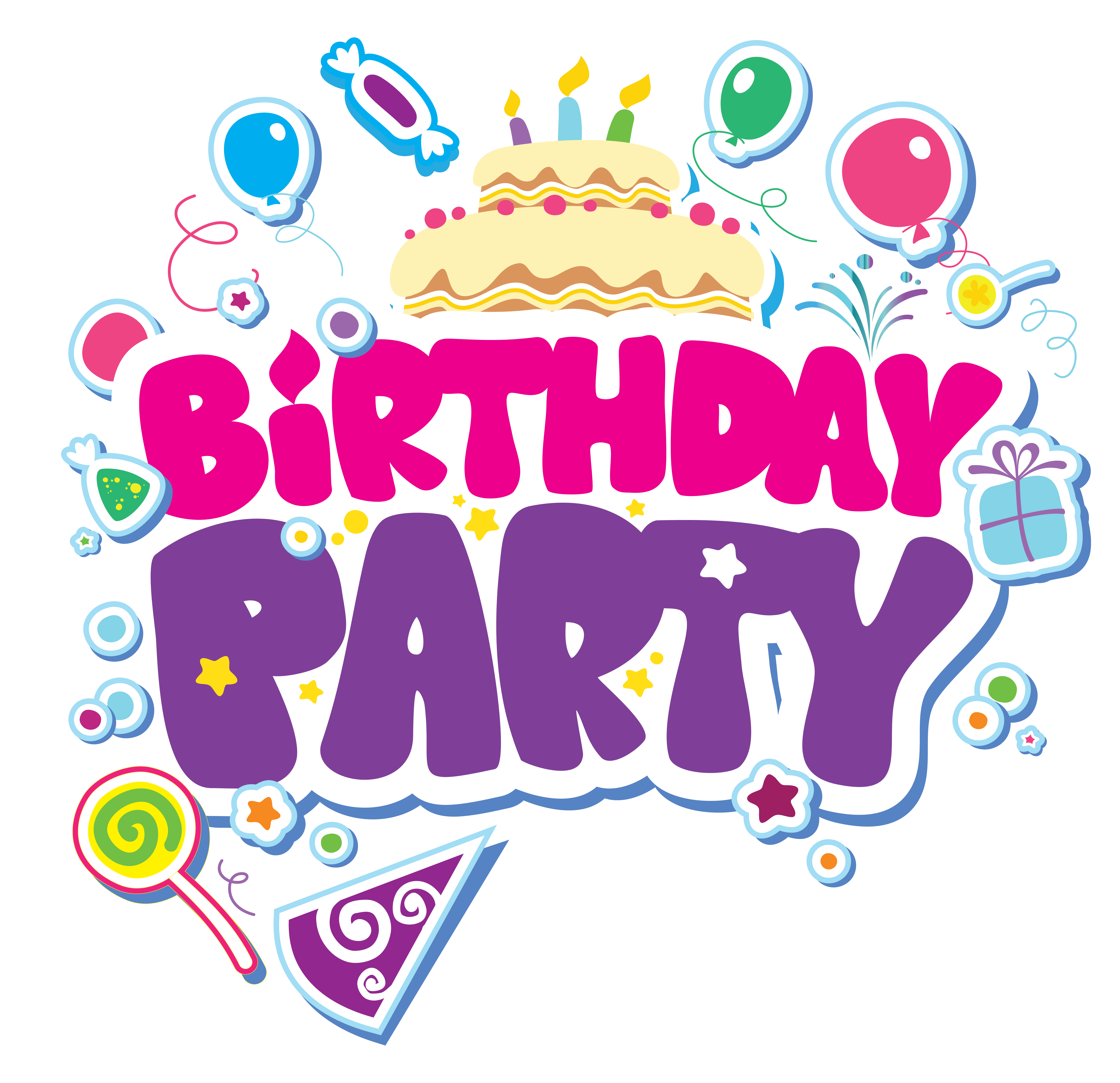 birthday party clipart clipground