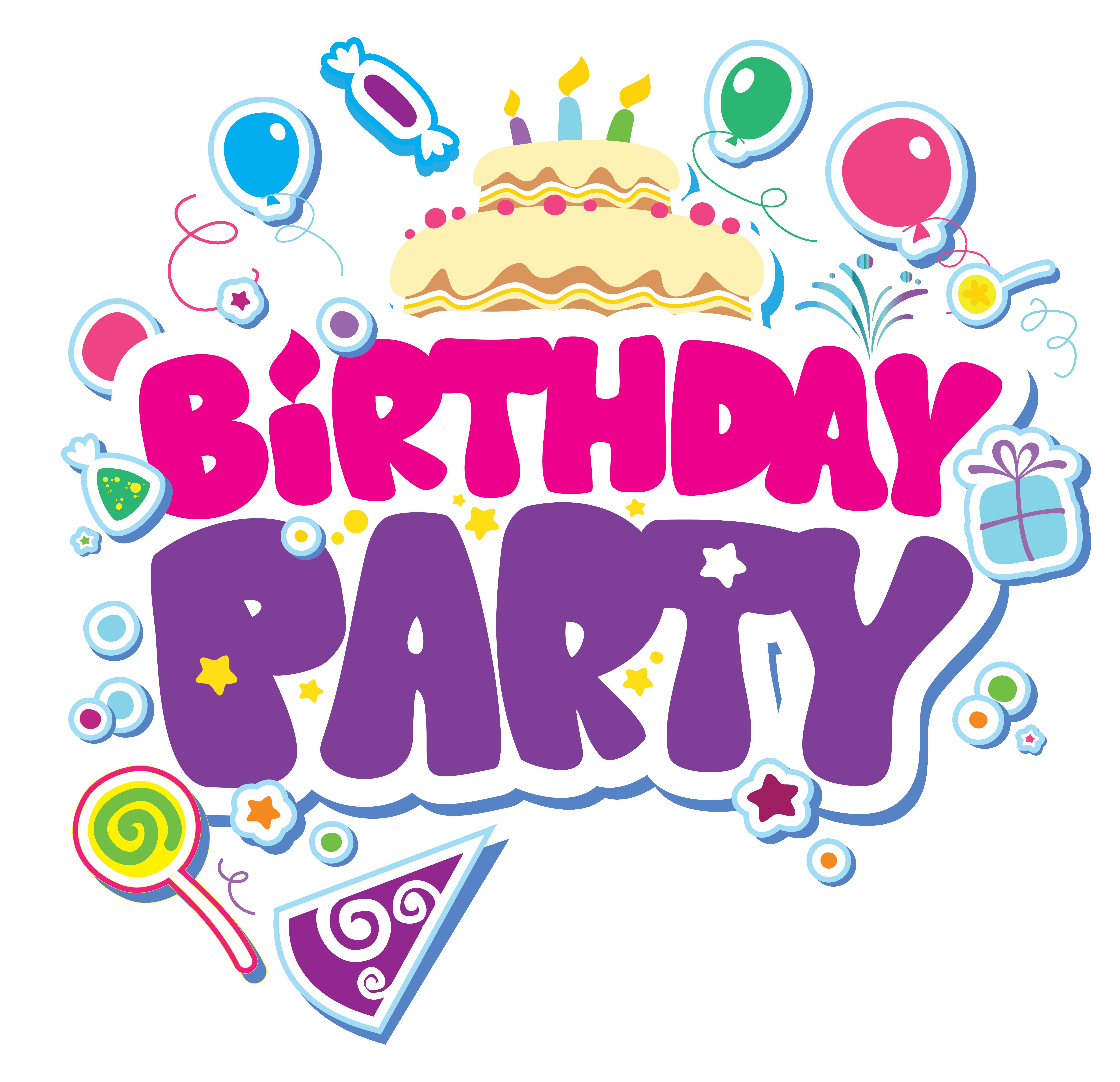 Birthday Party Clip Art.