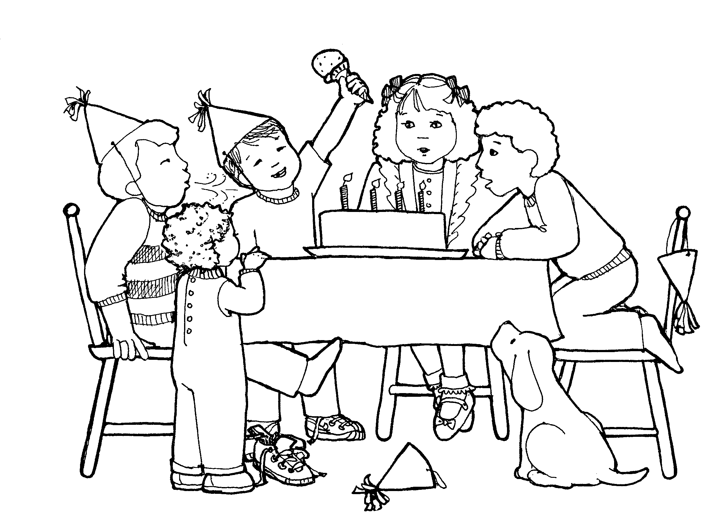 Free Birthday Party Clip Art Black And White, Download Free.