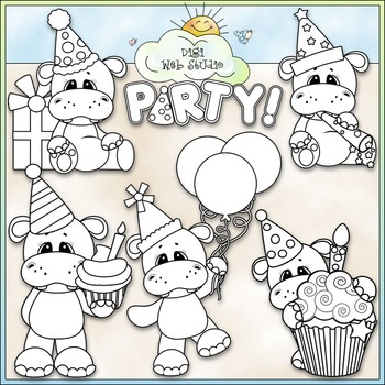 Hippo Birthday Party 1.
