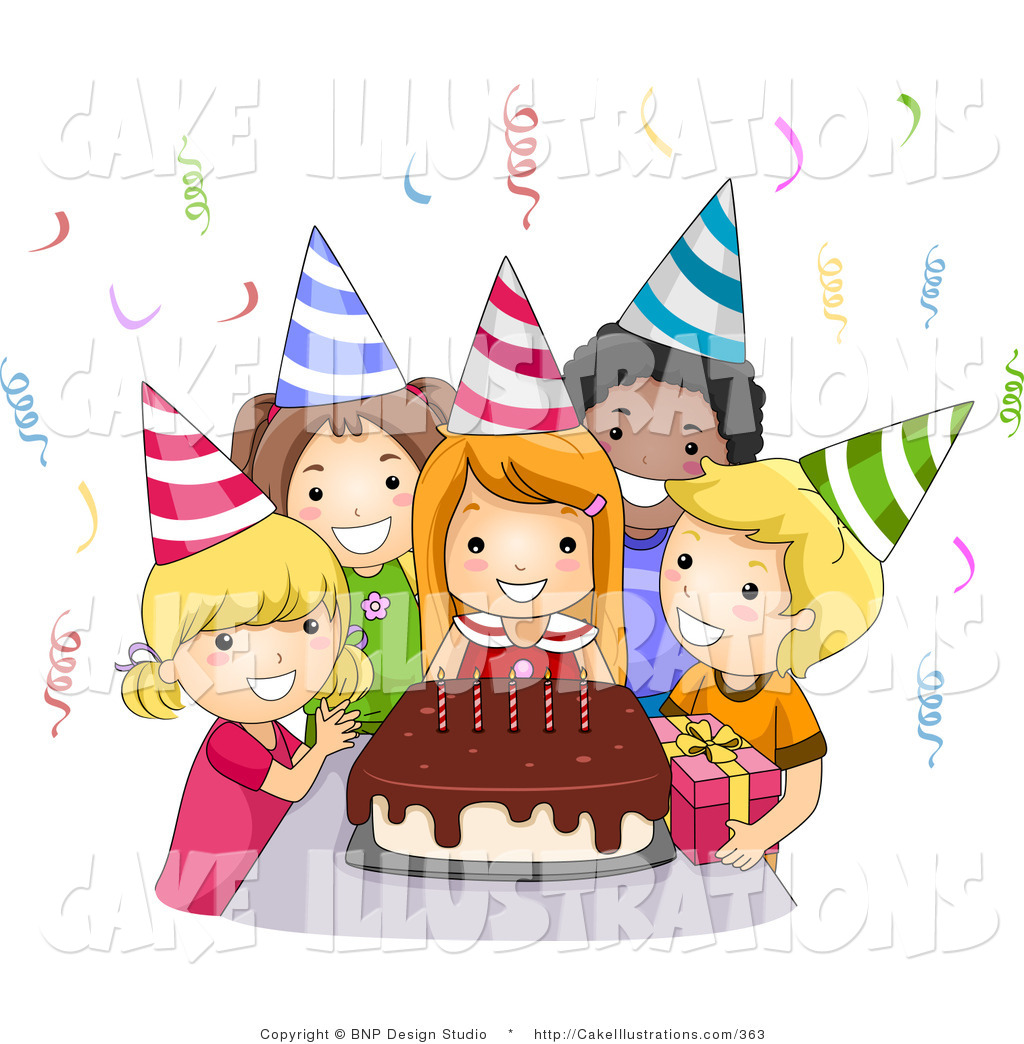 Birthday party clipart.