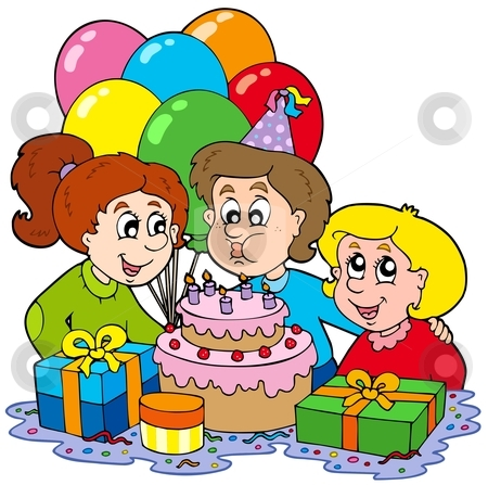 A Birthday Party Clipart.