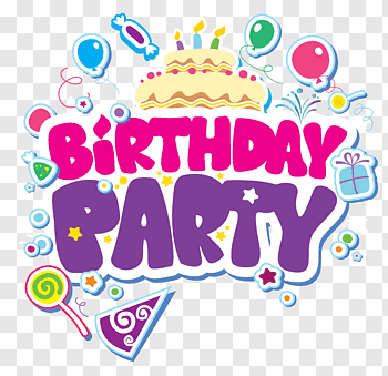 Birthday Party cutout PNG & clipart images.