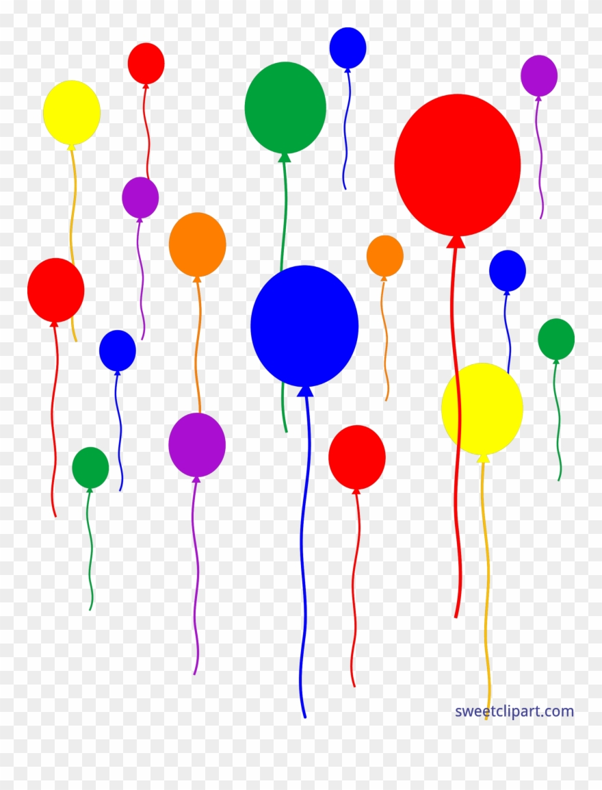 Vector Free Download Birthday Party Balloons Clipart.