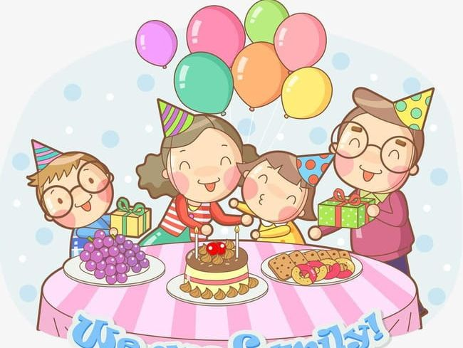 Family Birthday Party Cake PNG, Clipart, A Harmony, Balloon.