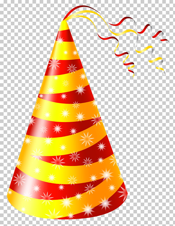 Birthday Party hat , Yellow and Red Party Hat , yellow and.