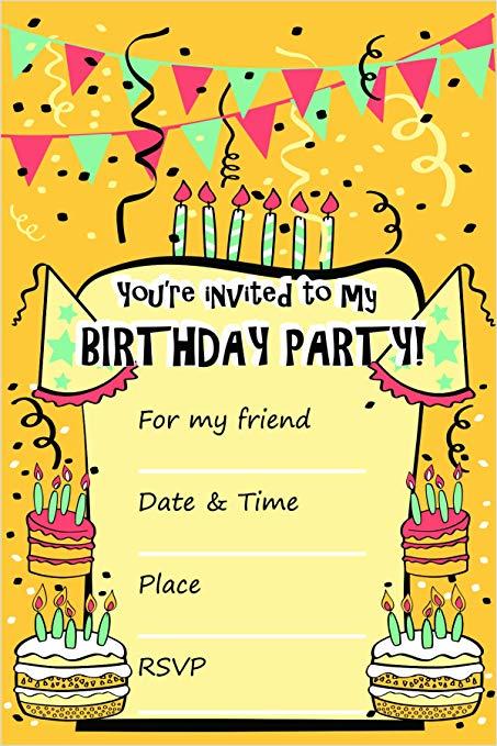 Amazon.com: 25 Birthday Invitation Cards with Brown.