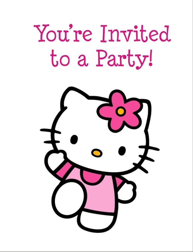 Hello Kitty FREE Printable Birthday Party Invitation Personalized.
