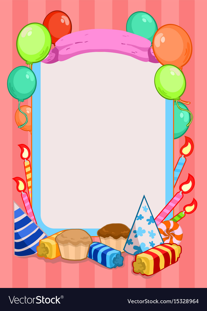 Colorful birthday party invitation template.