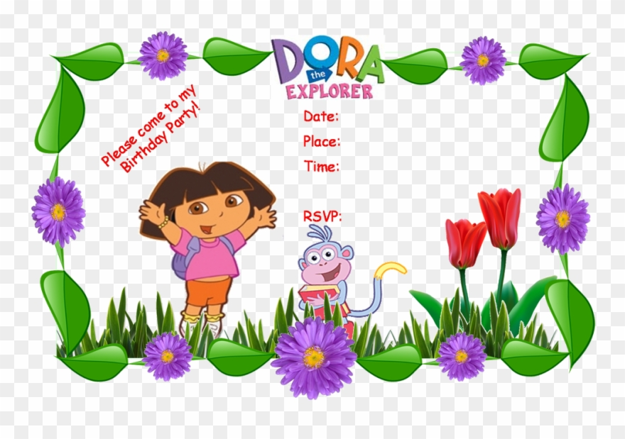 Dora Party Invitation Templates Clipart (#3068333).