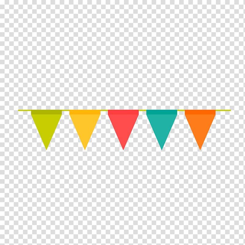 Buntings illustration, Adobe Illustrator, Birthday party.