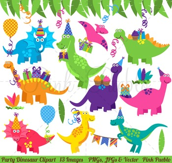Dinosaur Birthday Clipart, Dinosaur Birthday Clip Art, Dinosaur Party  Clipart.