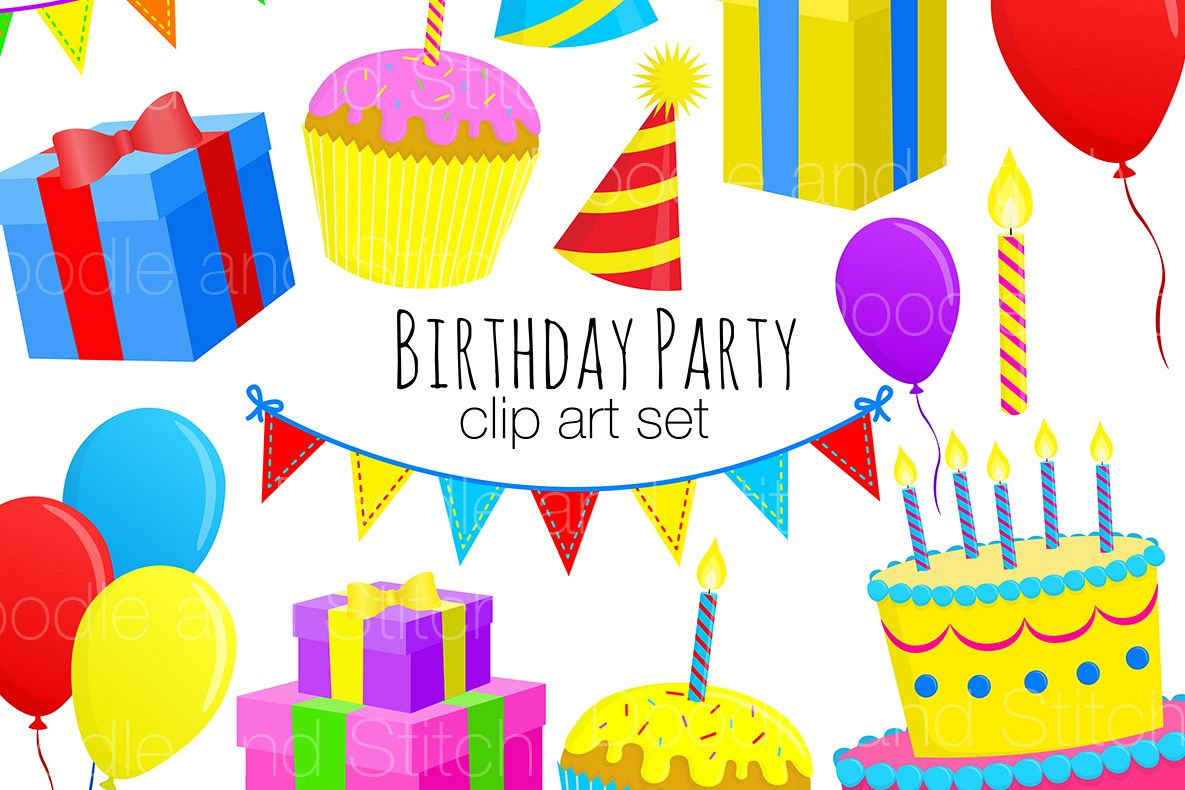 Birthday Party Clipart Illustrations.