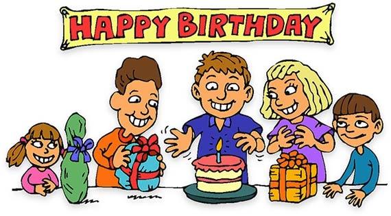Birthday Party Scene Clipart.