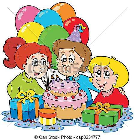 Children birthday party Vector Clipart Royalty Free. 15,974.