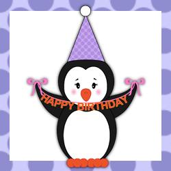 1168 Penguins free clipart.