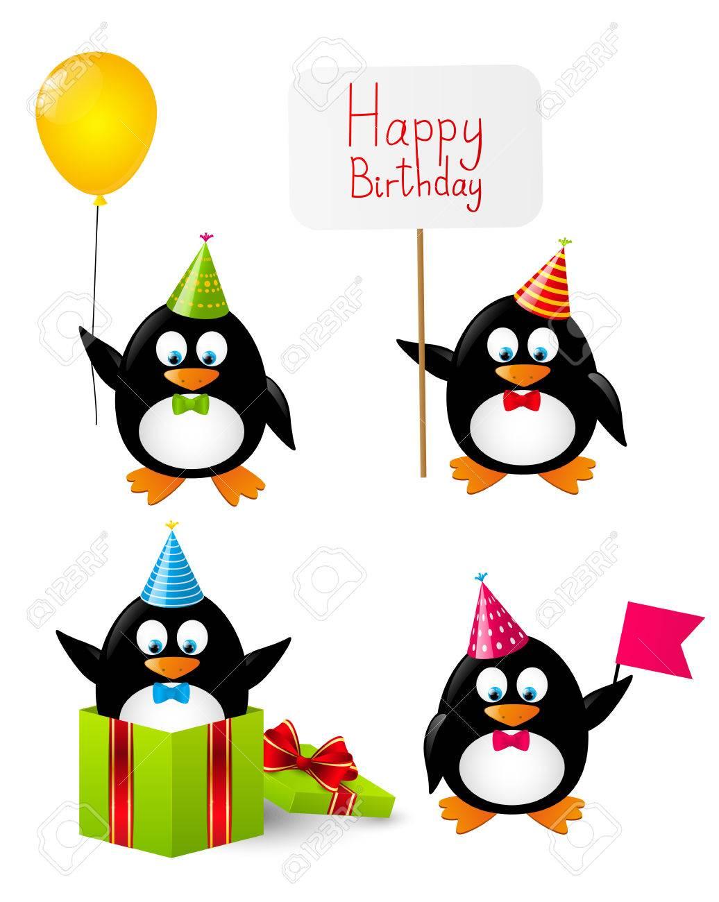 Penguin Clipart Birthday.
