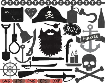 Pirate Photo Booth Props Pirates clip art game Party Birthday masks love.