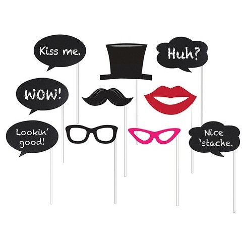 10ct Photo Booth Props, Chalkboard.