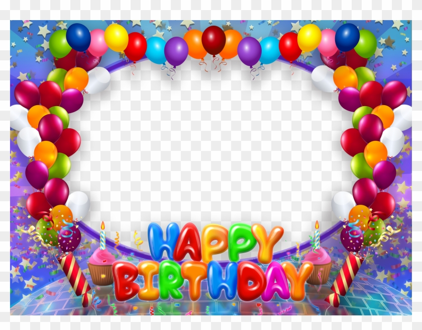 Happy Birthday Transparent Png Frame With Balloons.