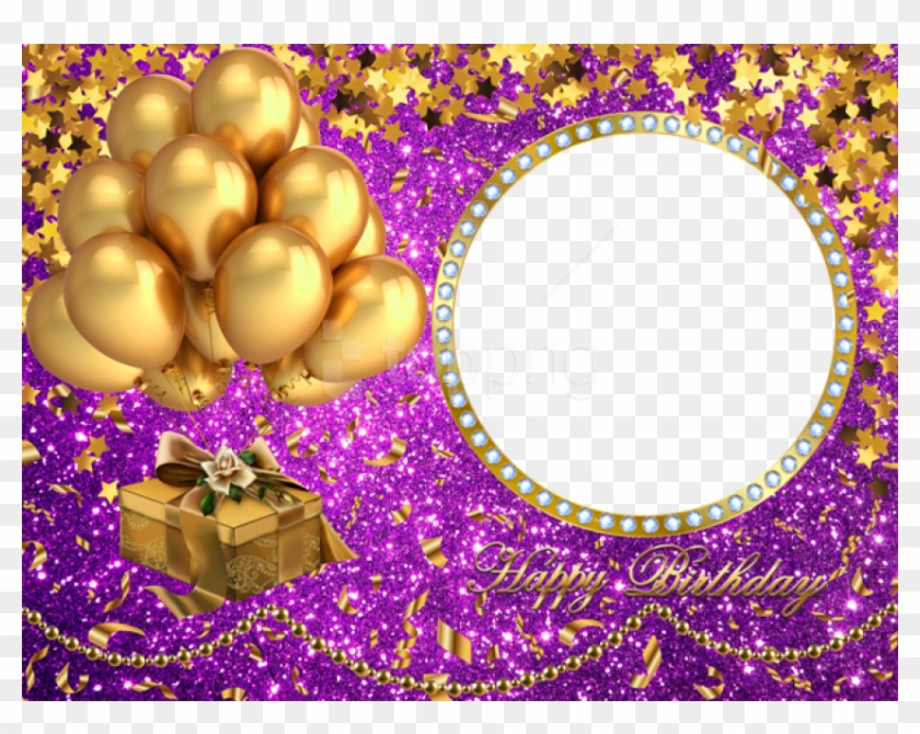 Free Png Happy Birthday Shining Png Frame Background.