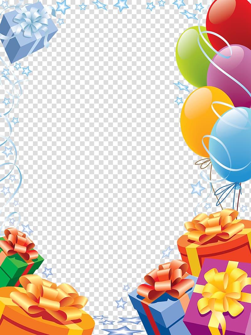 Happy Birthday Card! frame Greeting card , Birthday Frames, balloons.