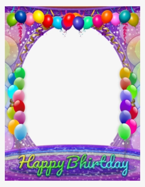 Birthday Frame PNG, Transparent Birthday Frame PNG Image Free.