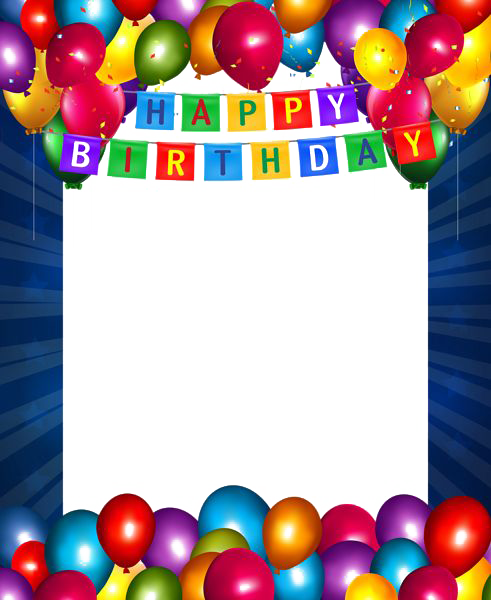 Happy Birthday Photo Frame clipart.