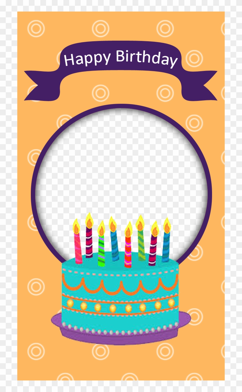 Birthday Frame With Cake Freeproducts.