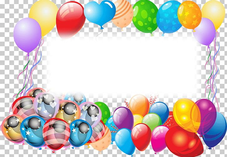 Happy Birthday Frame With Balloons PNG, Clipart, Birthdays.