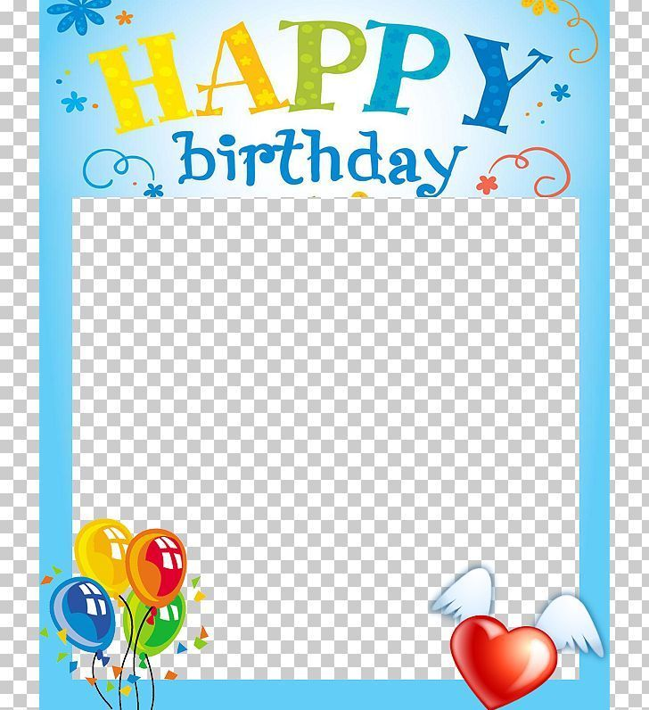 Happy Birthday Picture Frame Png.