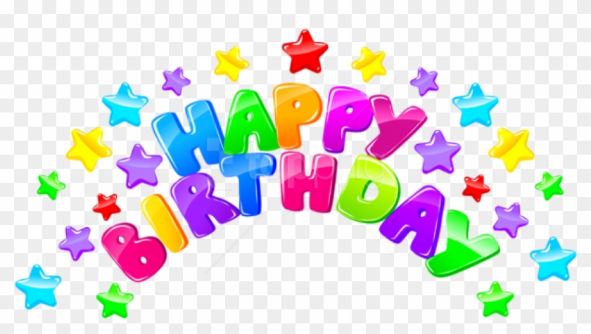 Free Png Happy Birthday Decor With Stars Png Images.